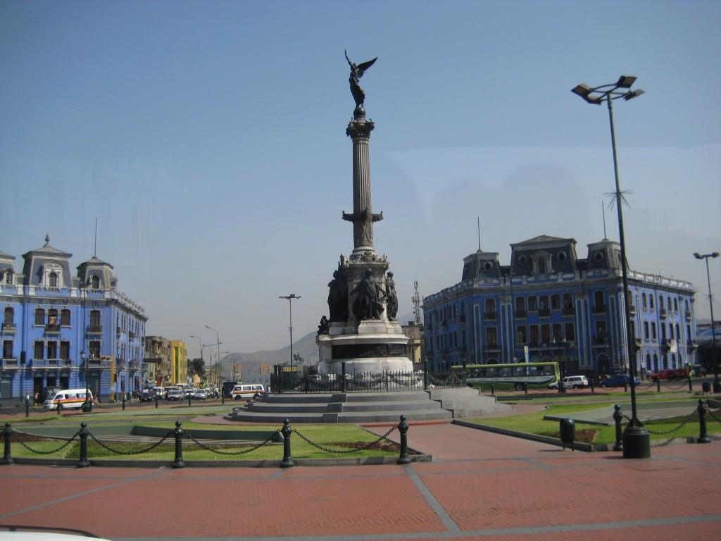 Traffic Circle in Lima, Peru