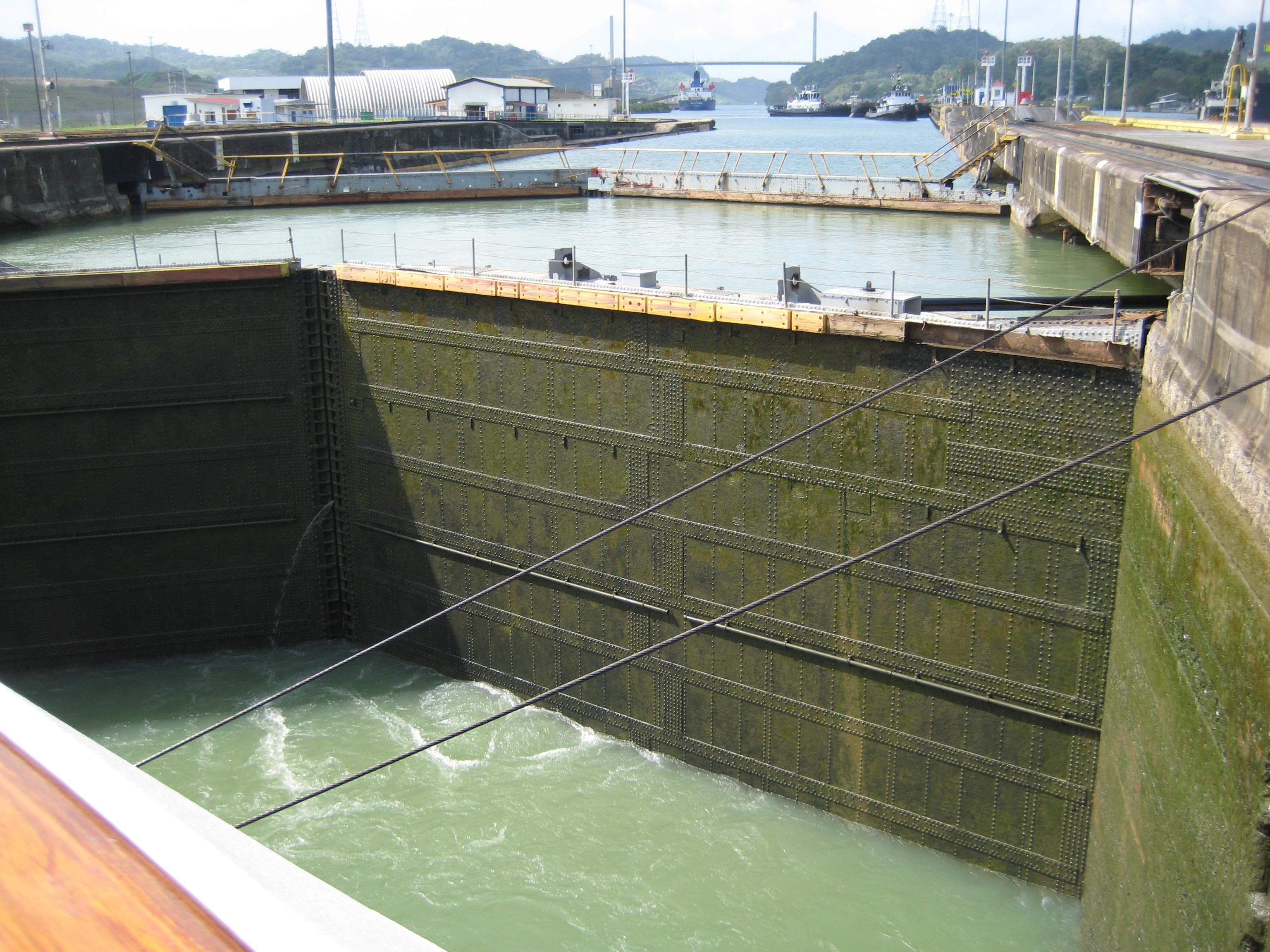 Panama Canal Empty Lock