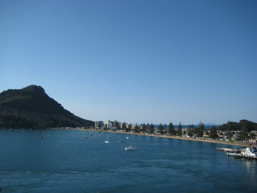 Beach and Bay at Mt. Maunganui-Tauranga