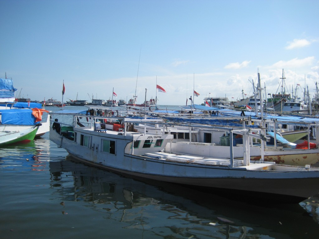 Fishing boat in Makassar Harbor