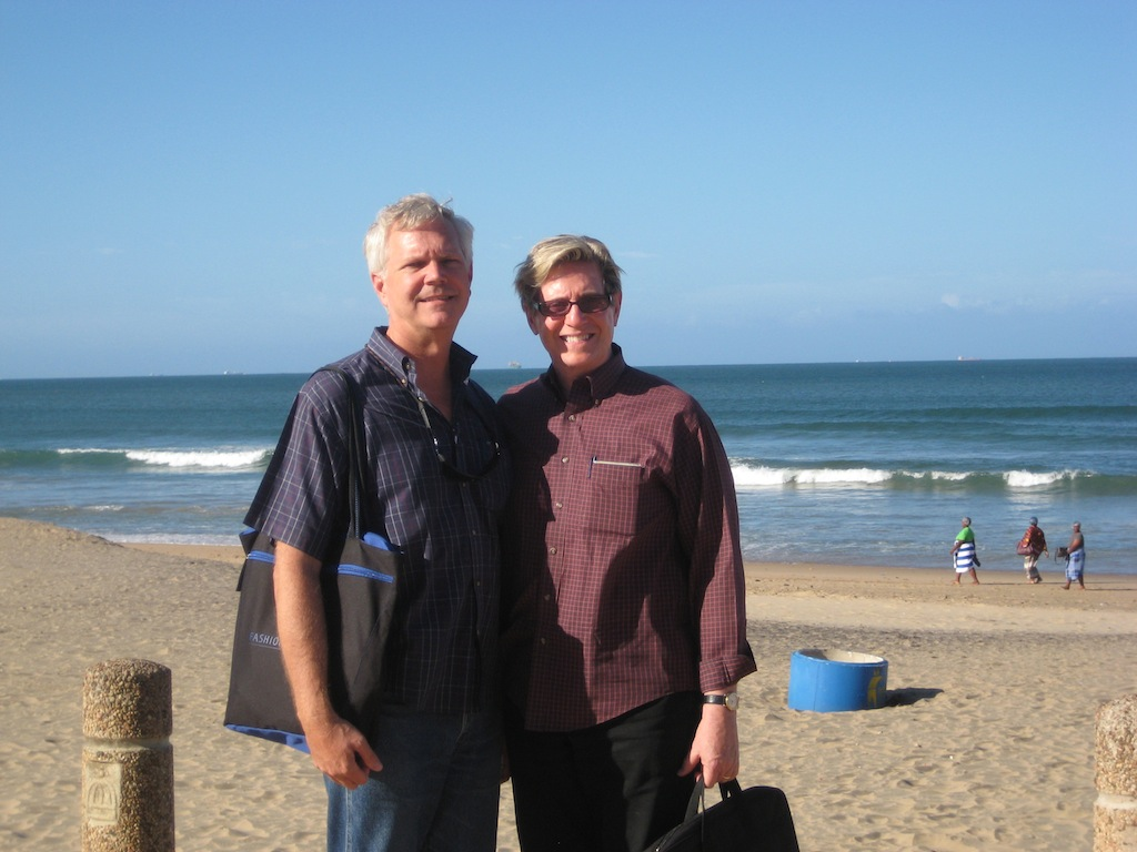 Kent and Mark at the Beach