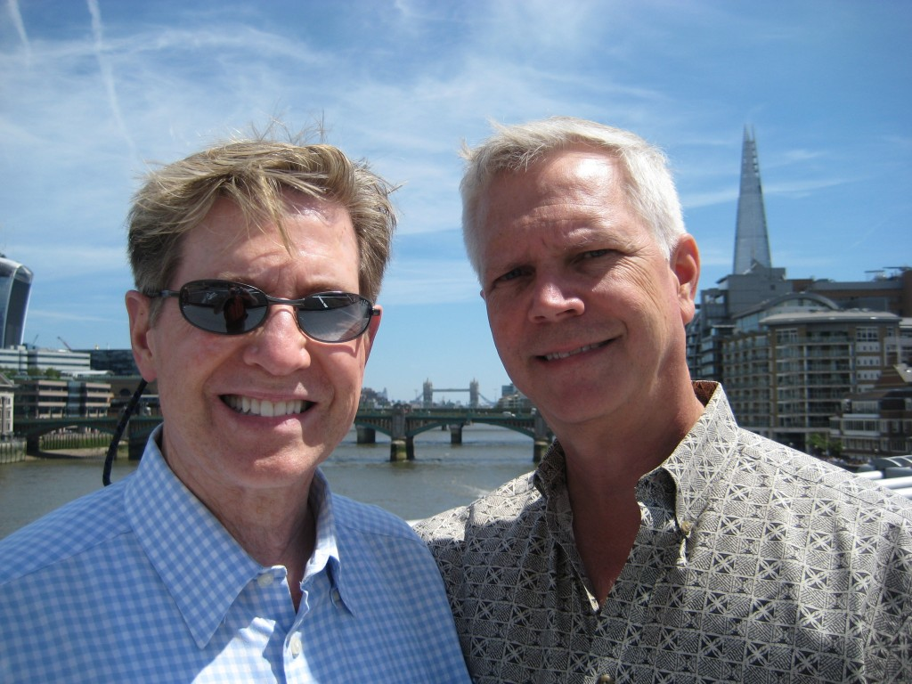 Kent and Mark at Tower Bridge, London