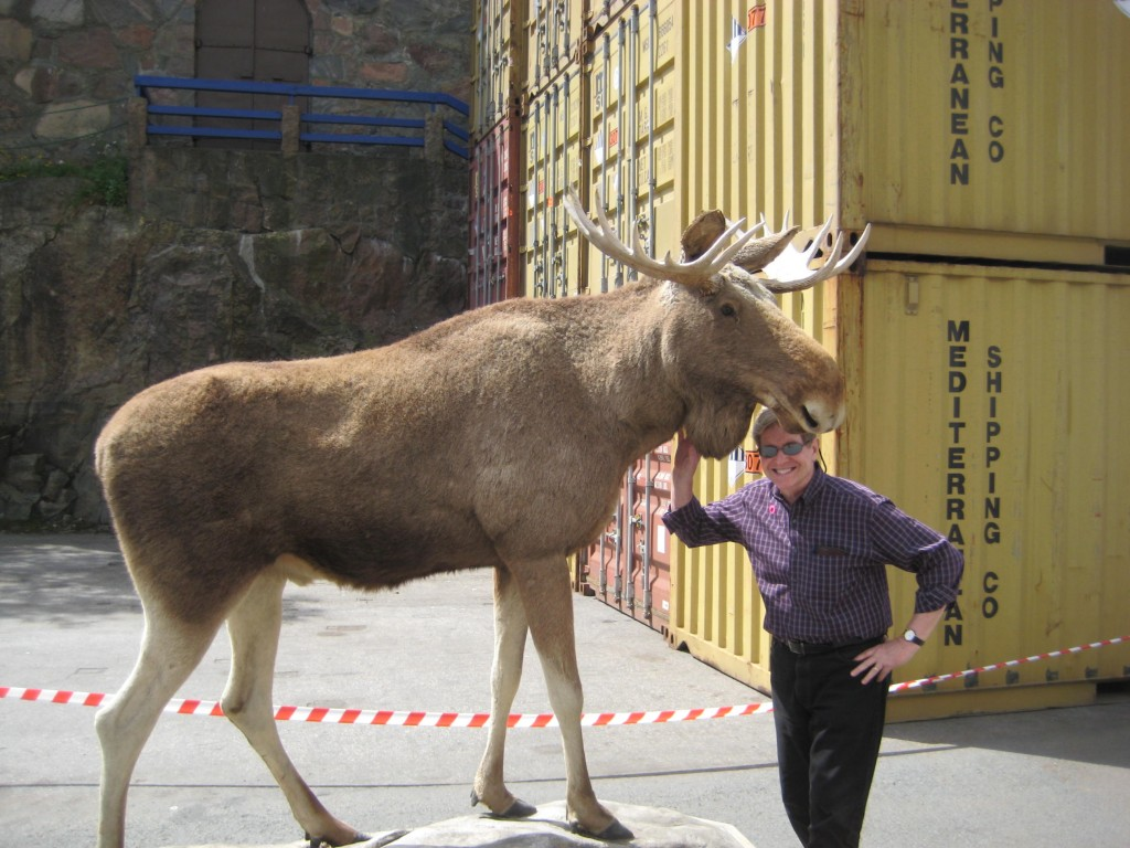 Kent and his new pet Moose