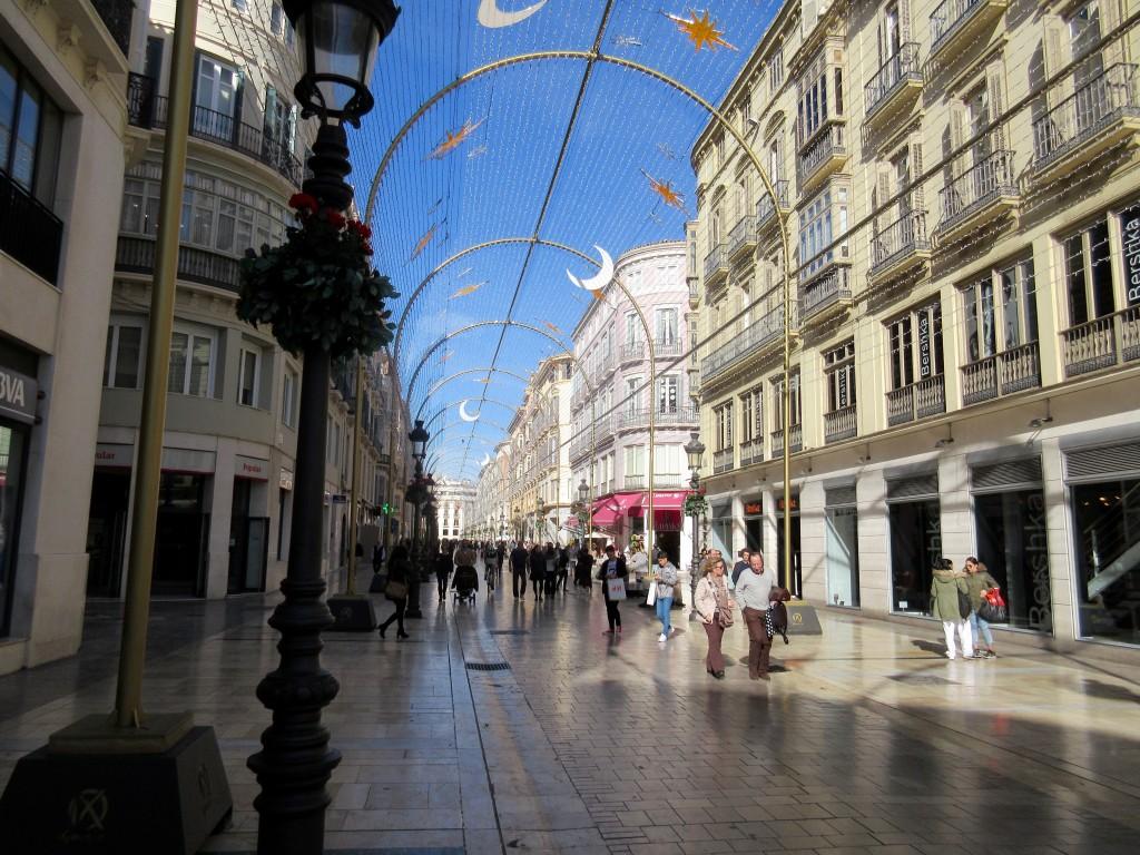 Malaga Main Shopping Street