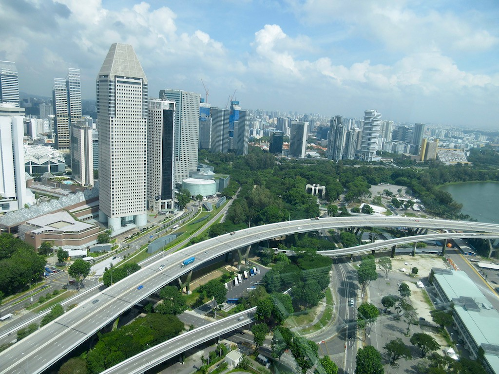 Singapore Skyline from Flyer