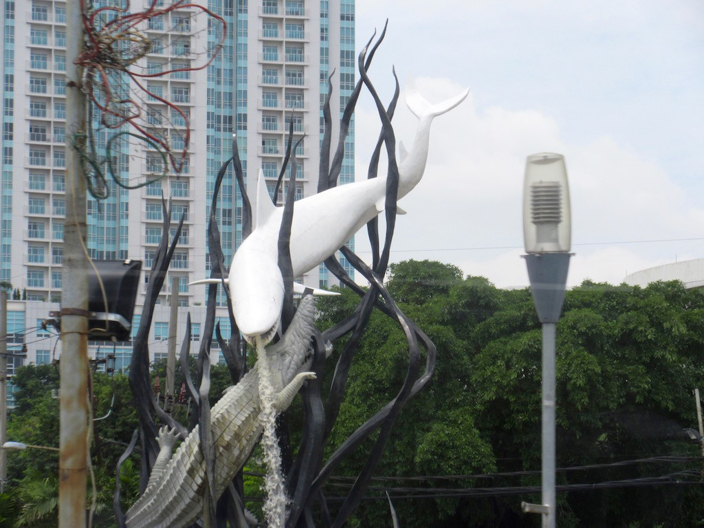 Surabaya Crocodile and Shark Statue