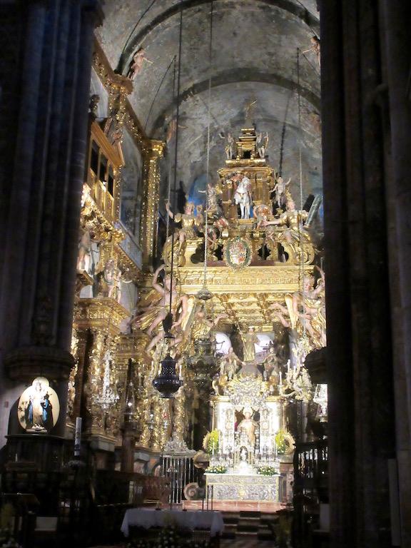 A Coruna, Spain - Santiago de Compostela Altar