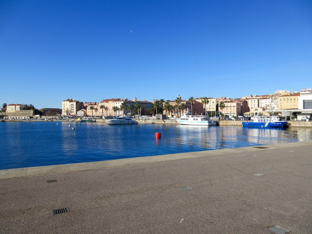 Ajaccio port view