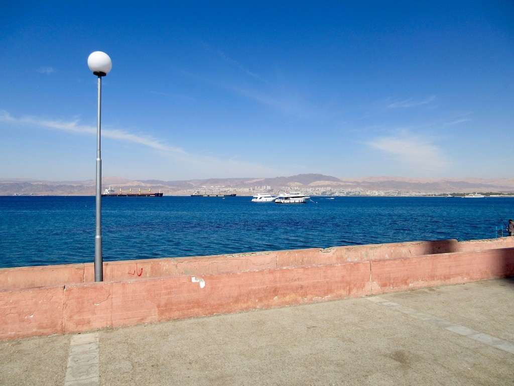 Aqaba, Jordan - Israel across the bay