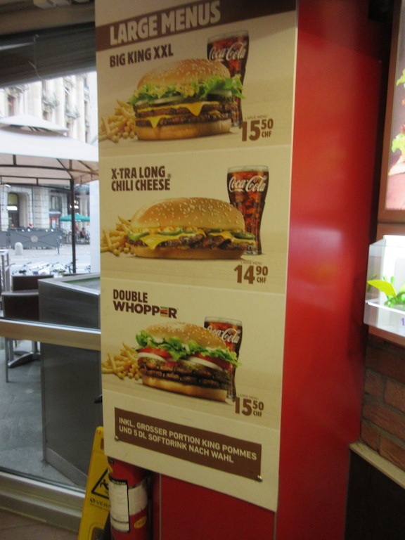 Lucerne - Burger King Sign